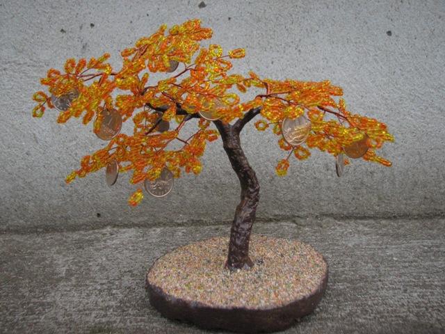 Деревья из бисера,цветы,украшения.  Бисероплетение.