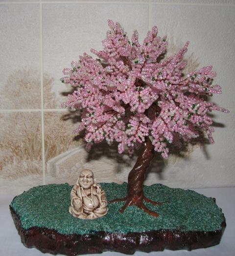 фото дерева сакуры из бисера - Лучшее о бисере.